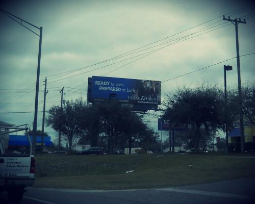 Accident attorney billboard